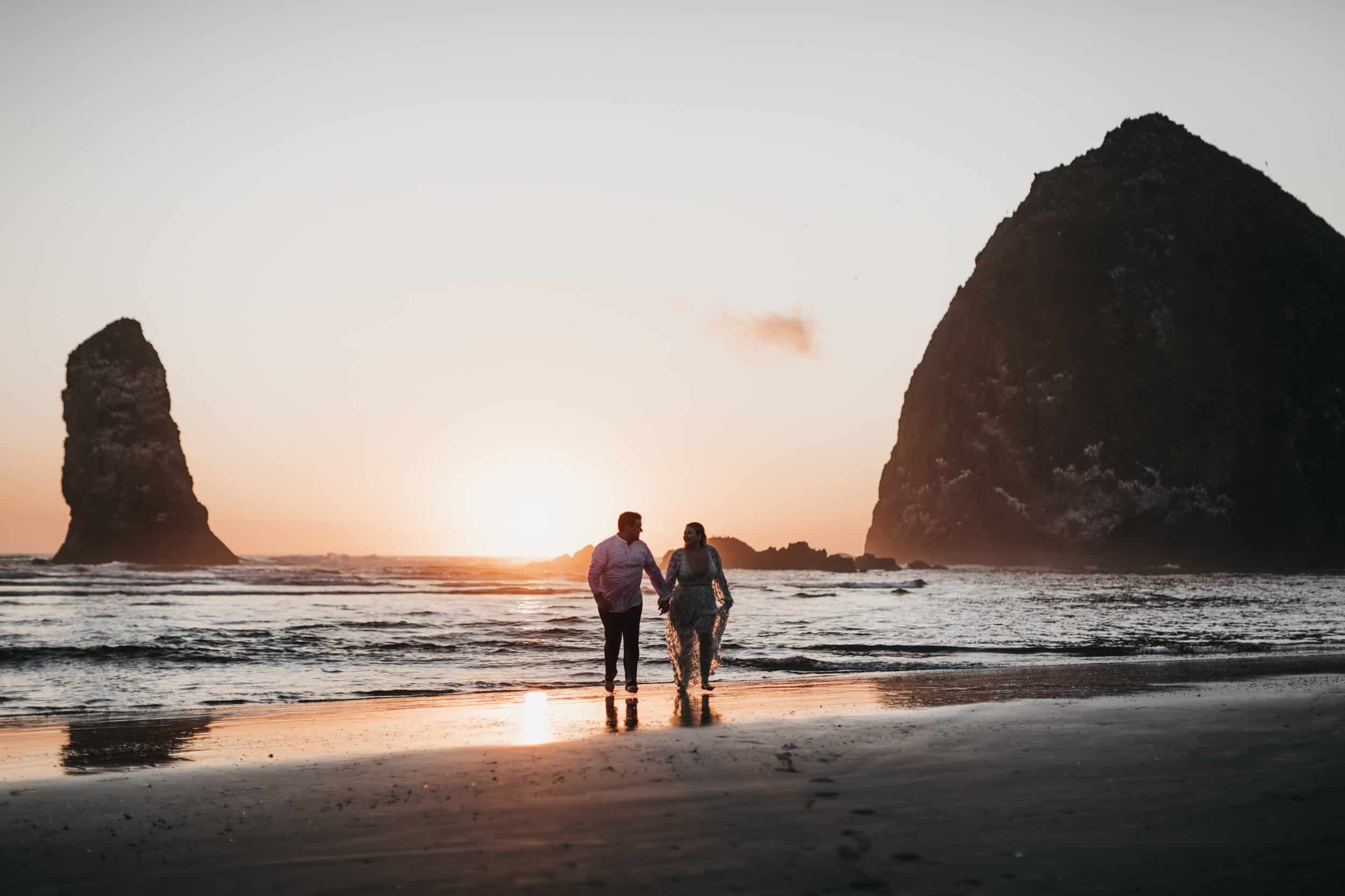 Cannon Beach Sunset Engagement Session