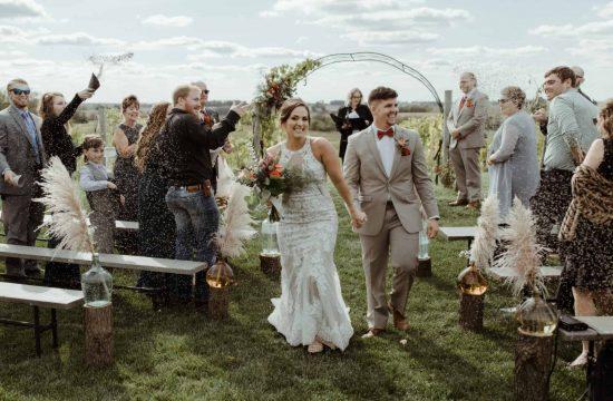 Vineyard Wedding at Harpor's Vineyard in Iowa City